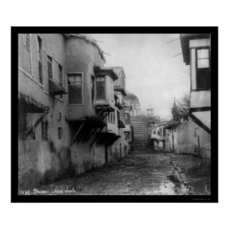 Street Scene in Damascus, Syria 1895 Poster
