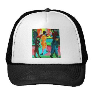 Street Scene in front of a Barbershop Trucker Hat