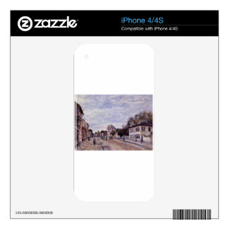 Street Scene in Marly by Alfred Sisley Decal For The iPhone 4S