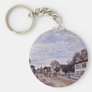 Street Scene in Marly by Alfred Sisley Keychain
