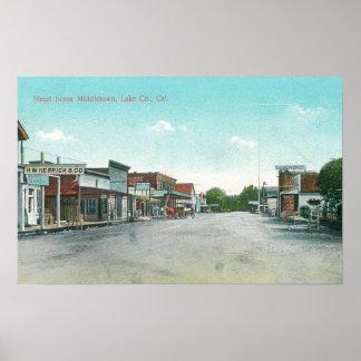 Street Scene in MiddletownMiddletown, CA Poster
