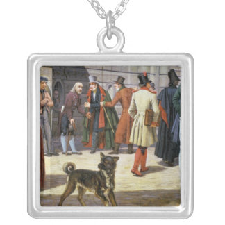 Street Scene in Stockholm Silver Plated Necklace