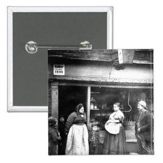 Street scene in Victorian London Pinback Buttons
