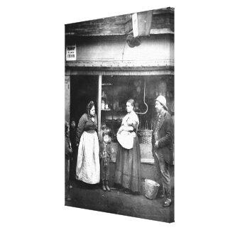 Street scene in Victorian London Canvas Print