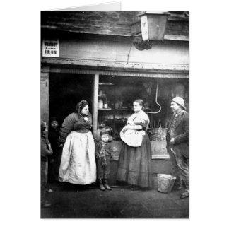 Street scene in Victorian London Card