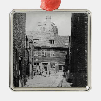 Street scene in Victorian London Metal Ornament