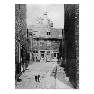 Street scene in Victorian London Postcard