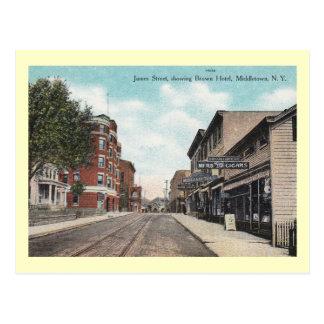 Street Scene, Middletown, New York Vintage Postcard