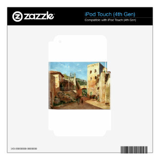 Street Scene near Antibes by Ernest Meissonier Decal For iPod Touch 4G