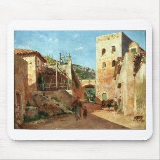 Street Scene near Antibes by Ernest Meissonier Mouse Pad
