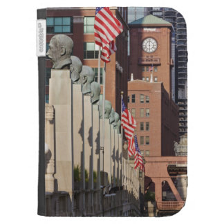 Street Scene outside the Chicago Merchandise Kindle Cases