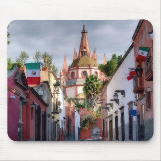 Street scene, San Miguel, Mexico, Mousepad