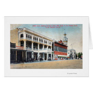 Street Scene Showing the Tremont Hotel Greeting Card