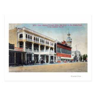 Street Scene Showing the Tremont Hotel Postcard