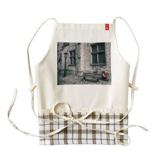 street scene with a bike zazzle HEART apron