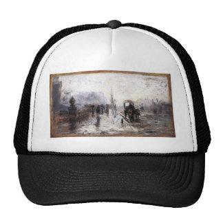 Street Scene with Carriage by T. C. Steele Trucker Hat