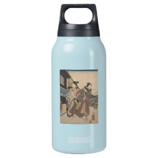 Street Scene with Mt. Fuji Insulated Water Bottle