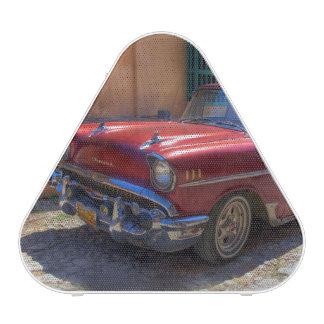 Street scene with old car in Havana Bluetooth Speaker