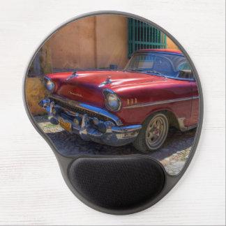 Street scene with old car in Havana Gel Mouse Pad