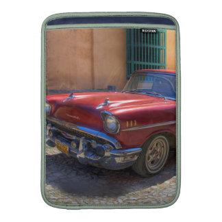 Street scene with old car in Havana MacBook Air Sleeves