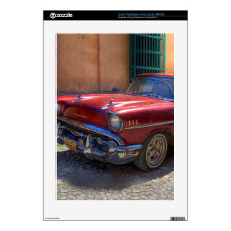 Street scene with old car in Havana PS3 Decal