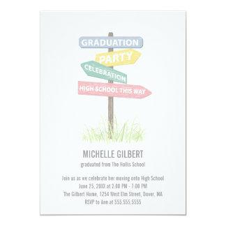Street Sign 8th Grade Gradution Party 5x7 Paper Invitation Card
