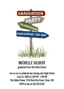 Middle school graduation invitations zazzle street sign 8th grade gradution party invitation filmwisefo