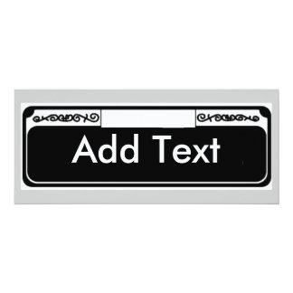 Street Sign Blank, Add Text Card