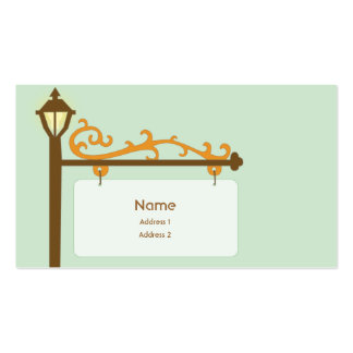 Street Sign - Business Double-Sided Standard Business Cards (Pack Of 100)