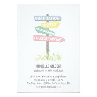 Street Sign Gradution Party Card