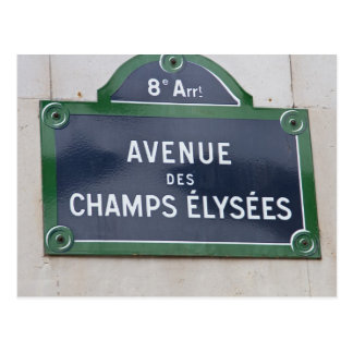 Street sign in Paris Postcard