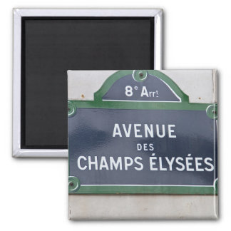 Street sign of Paris 2 Inch Square Magnet