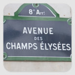 Street sign of Paris Square Stickers