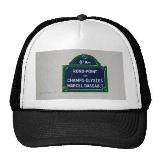 Street sign of Paris Trucker Hat