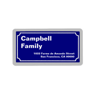 street sign personalized new label
