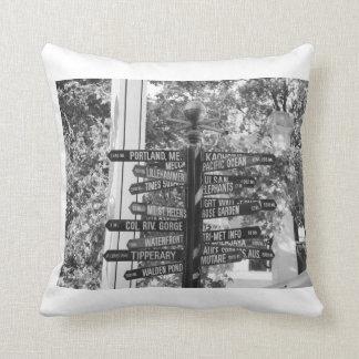 Street sign pillow