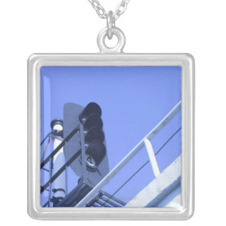 Street Signal Square Pendant Necklace