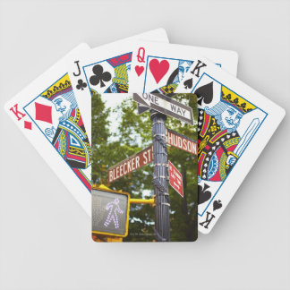 Street Signs 2 Bicycle Playing Cards