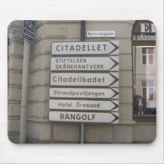 Street Signs in Landskrona, Sweden Mouse Pad