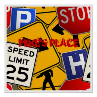 Street Signs Poster