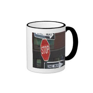 Street Signs Ringer Mug