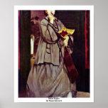 Street Singer By Manet Edouard Poster