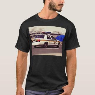 Street Themed, Busy Cops Car Patrol Passing Throug T-Shirt