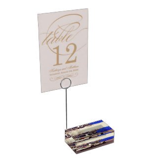 Street Themed, Busy Cops Car Patrol Passing Throug Table Number Holder
