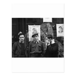 Street Toughs for FDR: 1936 Postcard