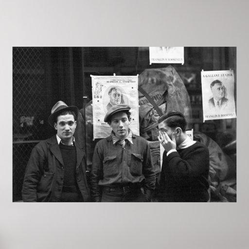 Street Toughs for FDR: 1936 Poster