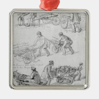 Street Traders, London, 1842 Metal Ornament