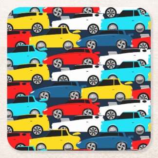 Street traffic square paper coaster