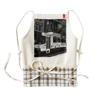 Street train zazzle HEART apron