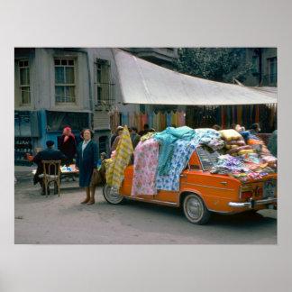 Street Vendor, Cernobbio, Como Poster